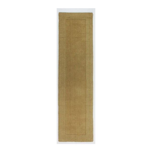 Covor din lână Flair Rugs Tuscany Sienna Ochre, 60 x 230 cm