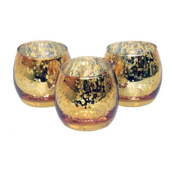Set 3 svícnů CIMC Metallic Tealight