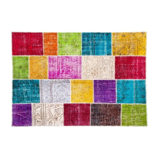 Vlněný koberec Allmode Kare, 180x120 cm