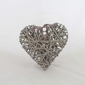 Dekorativní ratanové srdce III