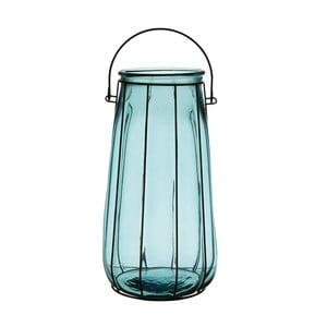 Lucerna Ecoglass Blue, 37 cm