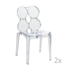 Sada 2 transparentních židlí J-Line Circles