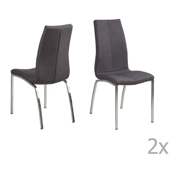 Sada 4 šedých jídelních židlí Actona Asama