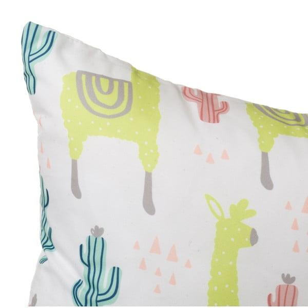 Sada 2 barevných polštářů s motivem lamy a kaktusů Unimasa, 45 x 45 cm