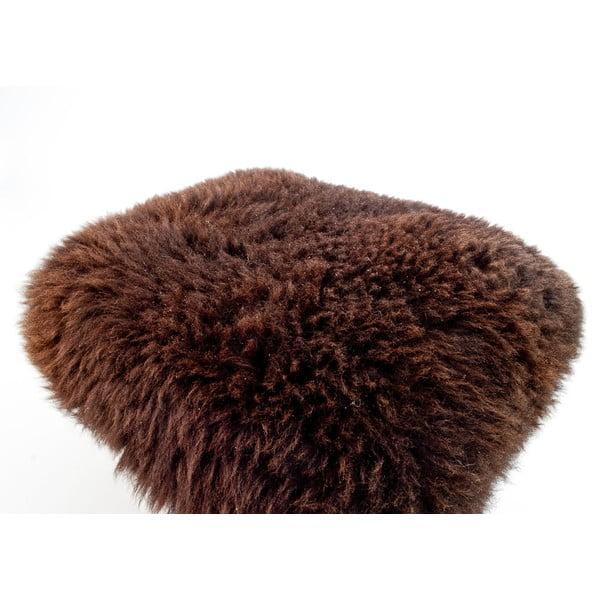 Stolička z ovčí kůže Nia Chocolate