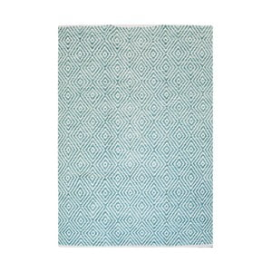 Ručně tkaný světle tyrkysový koberec Kayoom Coctail Ciney,80x150cm