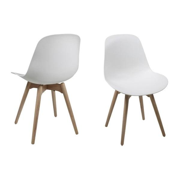 Set 2 scaune Actona Scramble Dining Set, alb
