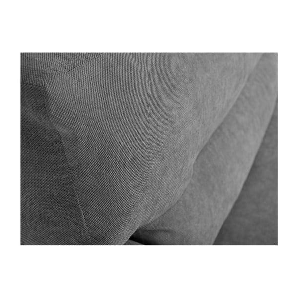 Šedá trojmístná rozkládací pohovka s úložným prostorem Cosmopolitan design Brisbane, 231x98x95cm