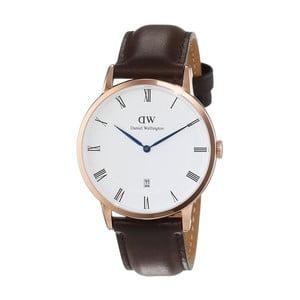 Dámské hodinky s hnědým páskem Daniel Wellington Bristol Rose, ⌀38mm