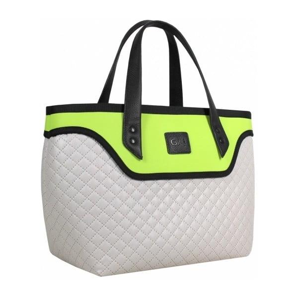 Kufříková kabelka Flowerbag, limetkovo-šedá