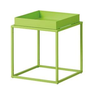Zelený kovový odkládací stolek Intersil Club NY