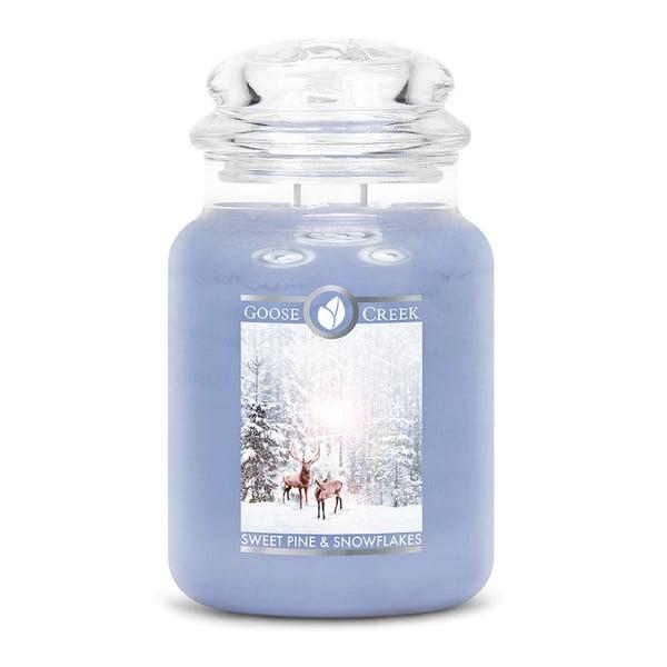 Hópelyhek illatgyertya üvegben, 150 óra égési idő - Goose Creek