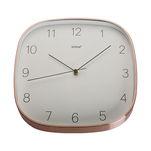 Závesné hodiny v medenej farbe VERSA Copper
