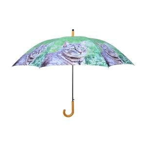Zelený deštník s kočkami Esschert Design