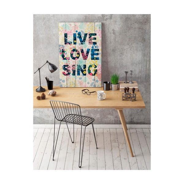 Dřevěná cedule Really Nice Things Live Love Sing