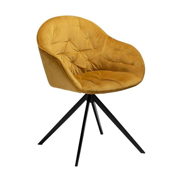 Žlutá sametová židle DAN-FORM Denmark Cray
