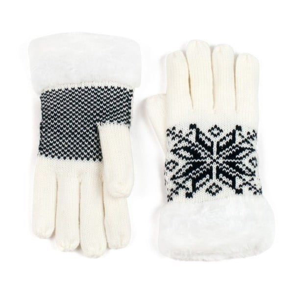 Bílé prstové rukavice Lola