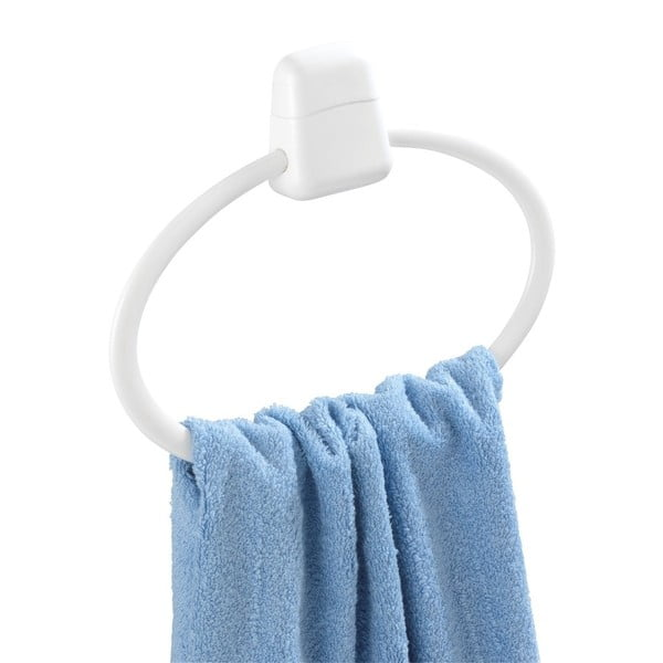 Biały okrągły ścienny uchwyt na ręczniki Wenko Pure