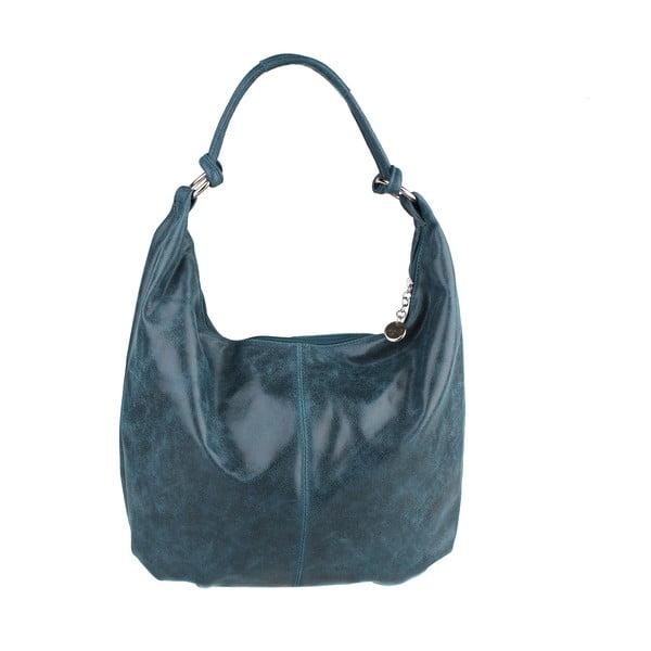Zelenomodrá kožená kabelka Chicca Borse Francisca