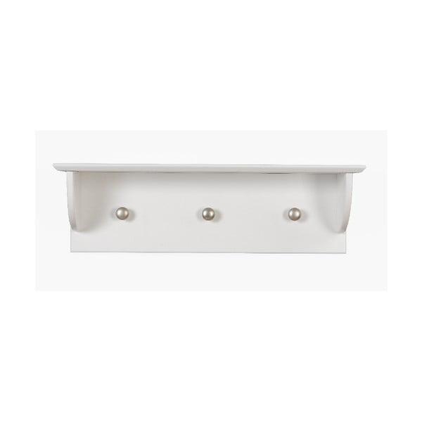 Biała półka z 3 haczykami BELLAMY Marylou