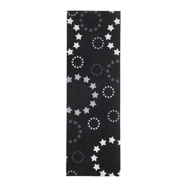 Černý kuchyňský běhoun Hanse Home Stars, 50x150cm
