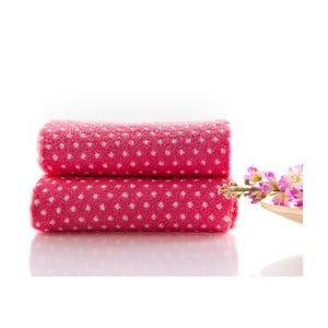 Set dvou ručníků Naila 90x50 cm, růžový