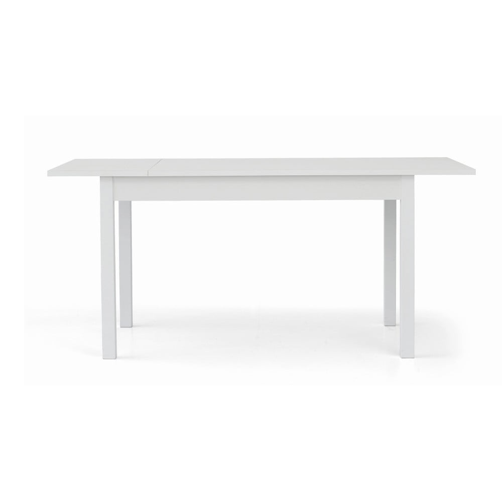 Bílý dřevěný rozkládací jídelní stůl Castagnetti Tempi, 140 cm