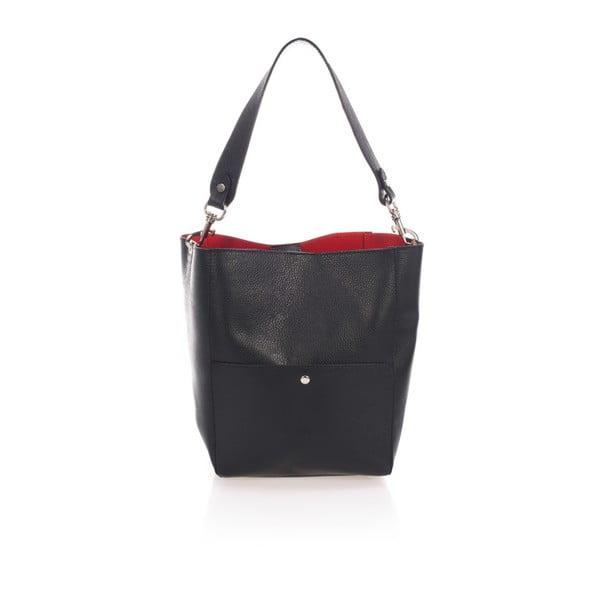 Černá kožená kabelka Giulia Massari Fiora