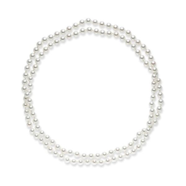 Bílý perlový náhrdelník Pearls Of London, 120cm