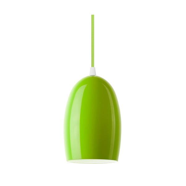 Zelené lesklé závěsné svítidlo Sotto Luce UME