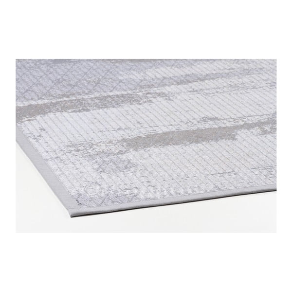 Šedý vzorovaný oboustranný koberec Narma Nehatu, 70 x 140cm