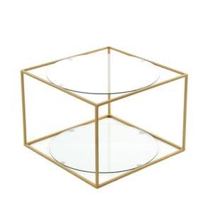Odkládací stolek 360 Living Curtis Klar Gold