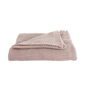 Růžový přehoz PT LIVING Snuggle, 130 x 170 cm