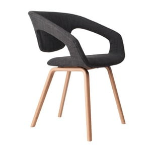 Židle Flexback Natural Dark Grey