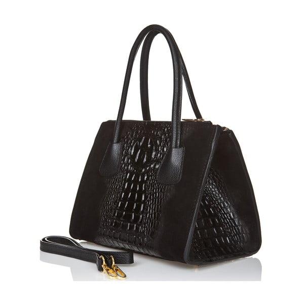 Kožená kabelka Giorgio Costa 123 Black