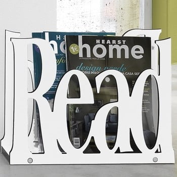 Suport pentru reviste Tomasucci Read, alb de la Tomasucci