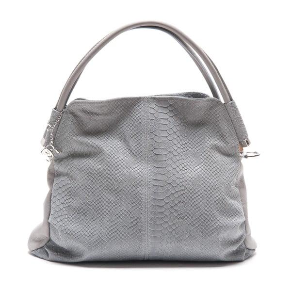 Kožená kabelka Zita, šedá