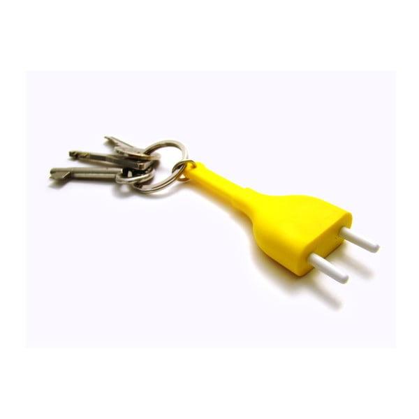 Set 2 věšáků Unplug, žlutý