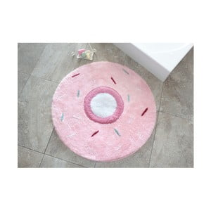 Covor Confetti Bathmats Donout, Ø 90 cm, roz - alb