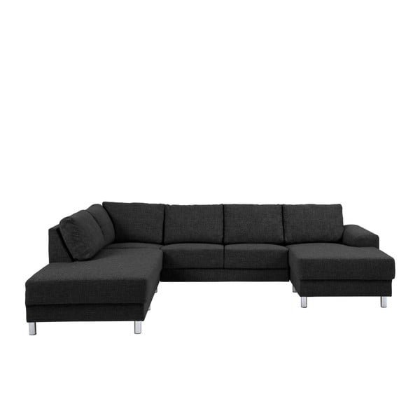 Canapea pe colț Actona Calverton, pe partea dreaptă, negru