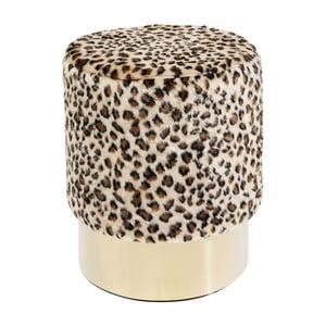 Stolička s leopardím vzorem Kare Design Cherry Leo, ∅35cm