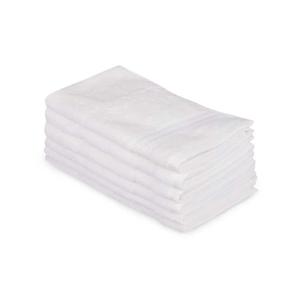 Sada 6 bílých bavlněných ručníků Madame Coco Lento Puro, 30 x 50 cm