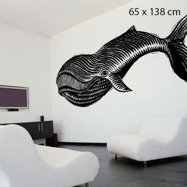 Samolepka Whale, 138x65 cm