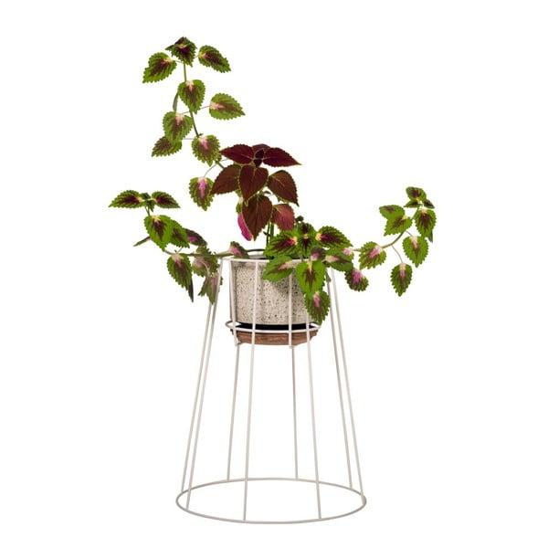 Stojan na květináč Cibele, bílý, výška 45 cm