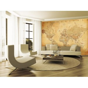 Tapeta Old Map Murals, 315x232 cm