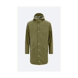 Zelená unisex bunda s vysokou voděodolností Rains Long Jacket, velikost L/XL