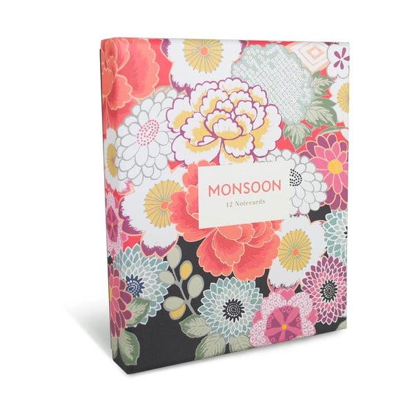 Box s 12 komplimentkami a obálkami Portico Designs Monsoon