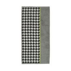Ručník Ladessa, zelená kohoutí stopa, 50x100 cm