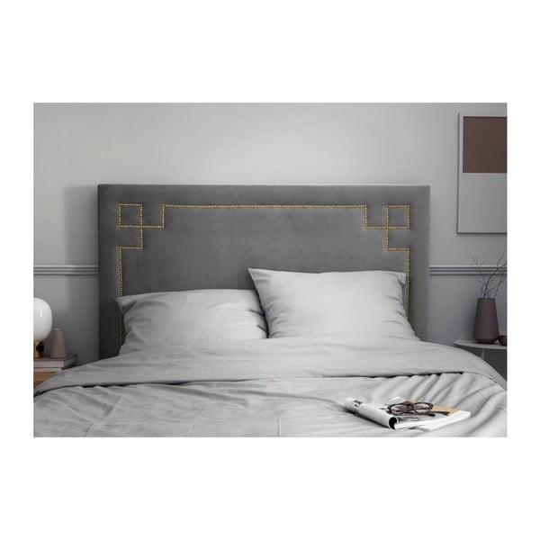 Světle šedé čelo postele THE CLASSIC LIVING Nicolas, 120 x 140 cm
