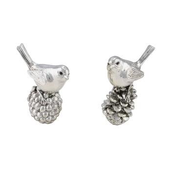 Set 2 decorațiuni pentru Crăciun Ego Dekor Birds, argintiu imagine
